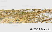 Satellite Panoramic Map of Tadzhikistan Territories