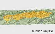 Savanna Style Panoramic Map of Tadzhikistan Territories