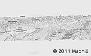 Silver Style Panoramic Map of Tadzhikistan Territories