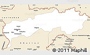 Classic Style Simple Map of Tadzhikistan Territories