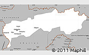 Gray Simple Map of Tadzhikistan Territories