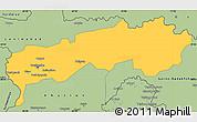Savanna Style Simple Map of Tadzhikistan Territories
