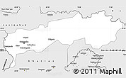 Silver Style Simple Map of Tadzhikistan Territories