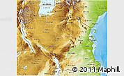 Physical 3D Map of Tanzania