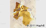 Physical 3D Map of Arusha, lighten