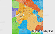 Political Shades 3D Map of Arusha