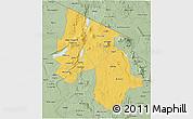 Savanna Style 3D Map of Arusha
