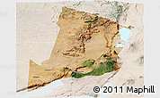 Satellite Panoramic Map of Ngorongoro, lighten