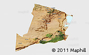 Satellite Panoramic Map of Ngorongoro, single color outside