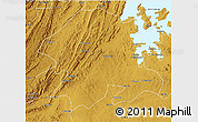 Physical 3D Map of Biharamulo