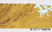Physical Panoramic Map of Biharamulo