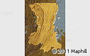 Physical Map of Kagera, darken