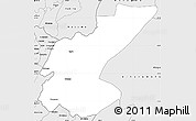 Silver Style Simple Map of Ngara