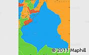 Political Simple Map of Kasulu
