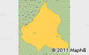 Savanna Style Simple Map of Kasulu
