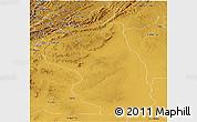 Physical Panoramic Map of Kibondo
