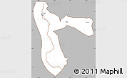 Gray Simple Map of Kigoma, cropped outside