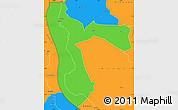 Political Simple Map of Kigoma