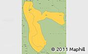 Savanna Style Simple Map of Kigoma
