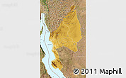 Physical Map of Kigoma, satellite outside