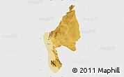Physical Map of Kigoma, single color outside