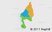 Political Map of Kigoma, cropped outside