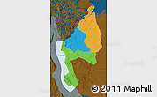 Political Map of Kigoma, darken