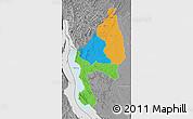 Political Map of Kigoma, desaturated
