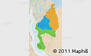 Political Map of Kigoma, lighten