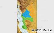Political Map of Kigoma, physical outside