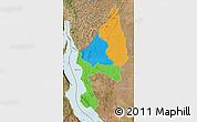 Political Map of Kigoma, satellite outside