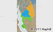 Political Map of Kigoma, semi-desaturated