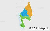 Political Map of Kigoma, single color outside