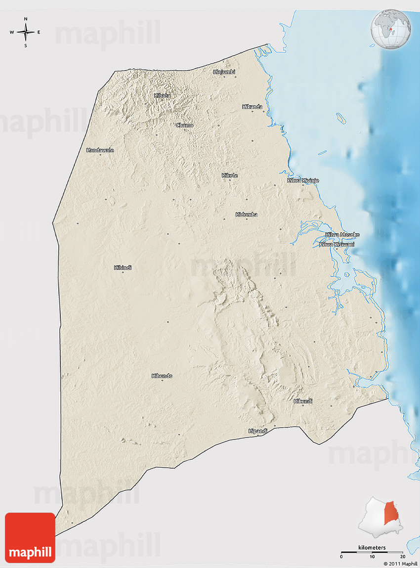 Kilwa On World Map 94053 Infovisual