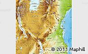 Physical Map of Tanzania