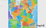 Political Map of Tanzania