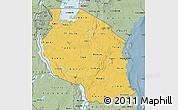 Savanna Style Map of Tanzania