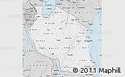 Silver Style Map of Tanzania