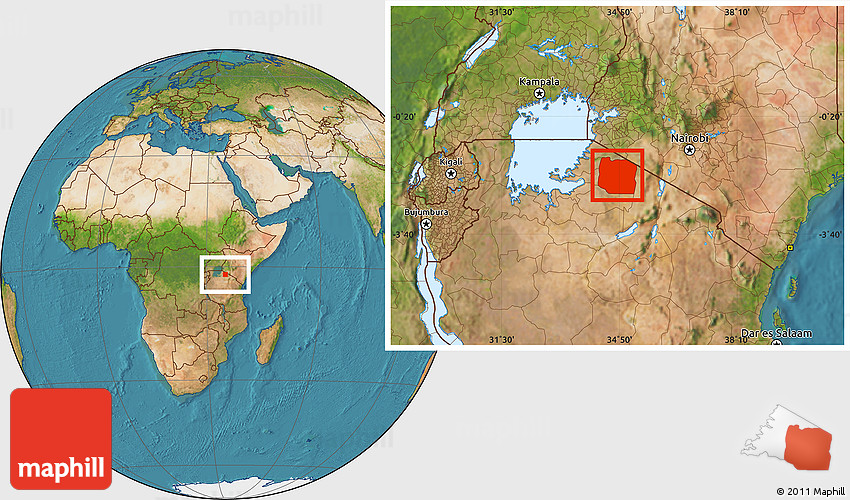 Satellite location map of serengeti gumiabroncs Image collections