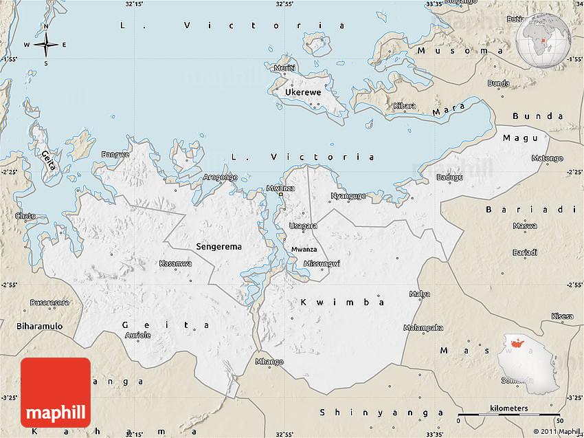 Classic Style Map of Mwanza