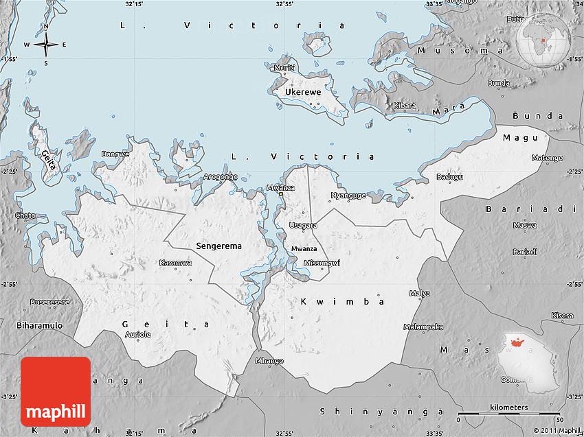 Gray Map of Mwanza
