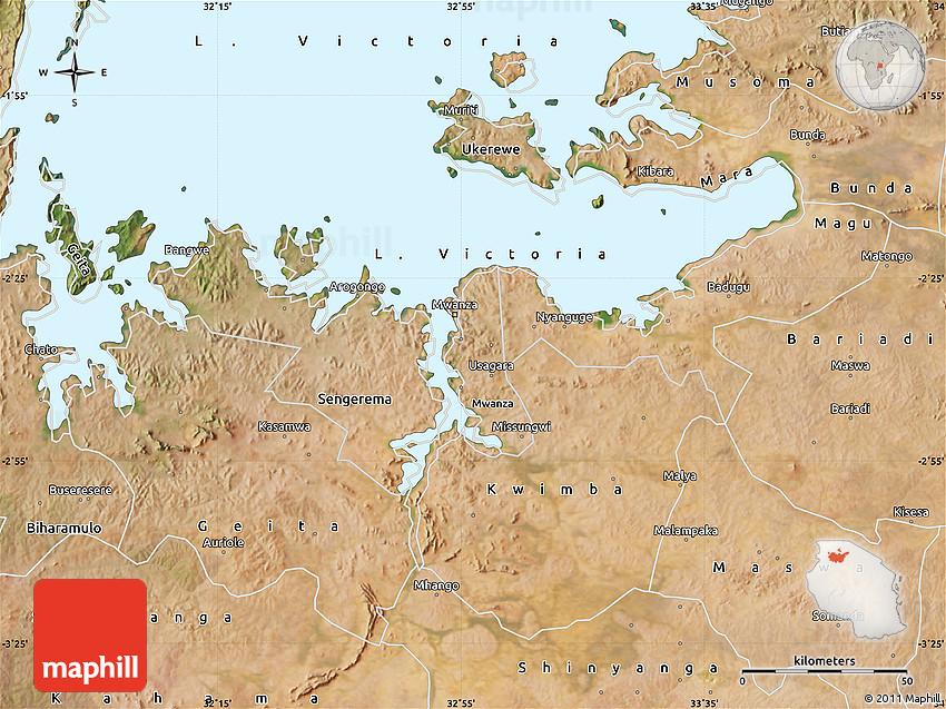 Satellite Map of Mwanza