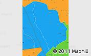 Political Simple Map of Nkasi