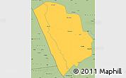 Savanna Style Simple Map of Nkasi