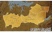 Physical Map of Shinyanga, darken