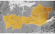 Physical Map of Shinyanga, desaturated