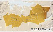 Physical Map of Shinyanga, lighten