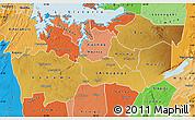 Physical Map of Shinyanga, political shades outside