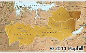 Physical Map of Shinyanga, satellite outside