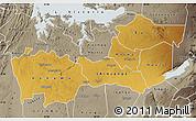 Physical Map of Shinyanga, semi-desaturated